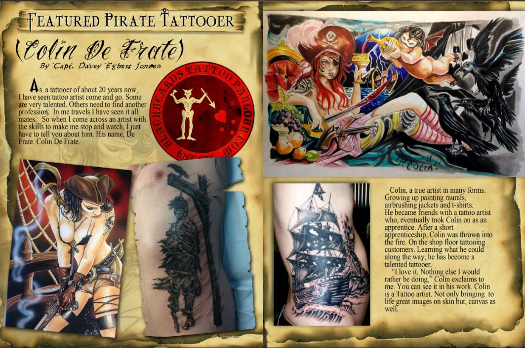 MMagazine Featured Pirate Tattoer